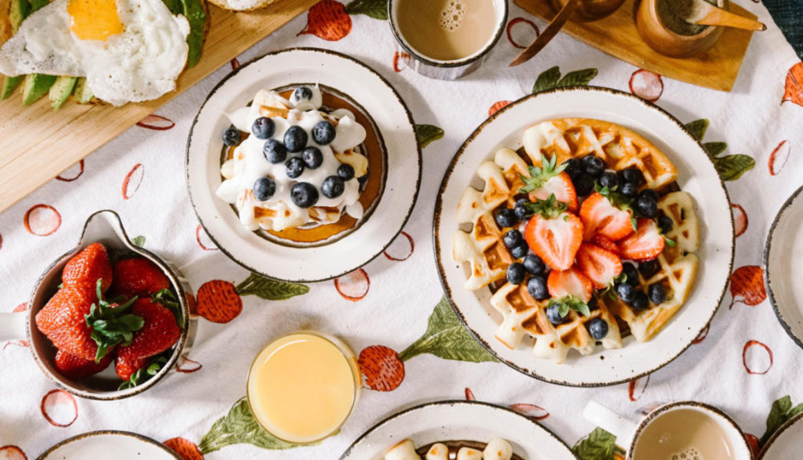 Delicious Field Berry Waffles
